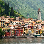 the lakeside village of Varenna is seen on shore of Lake Como, Italy